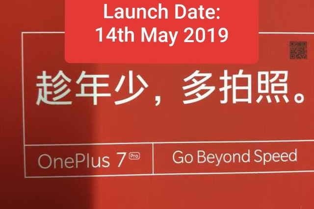 Leaked OnePlus 7 Pro release date