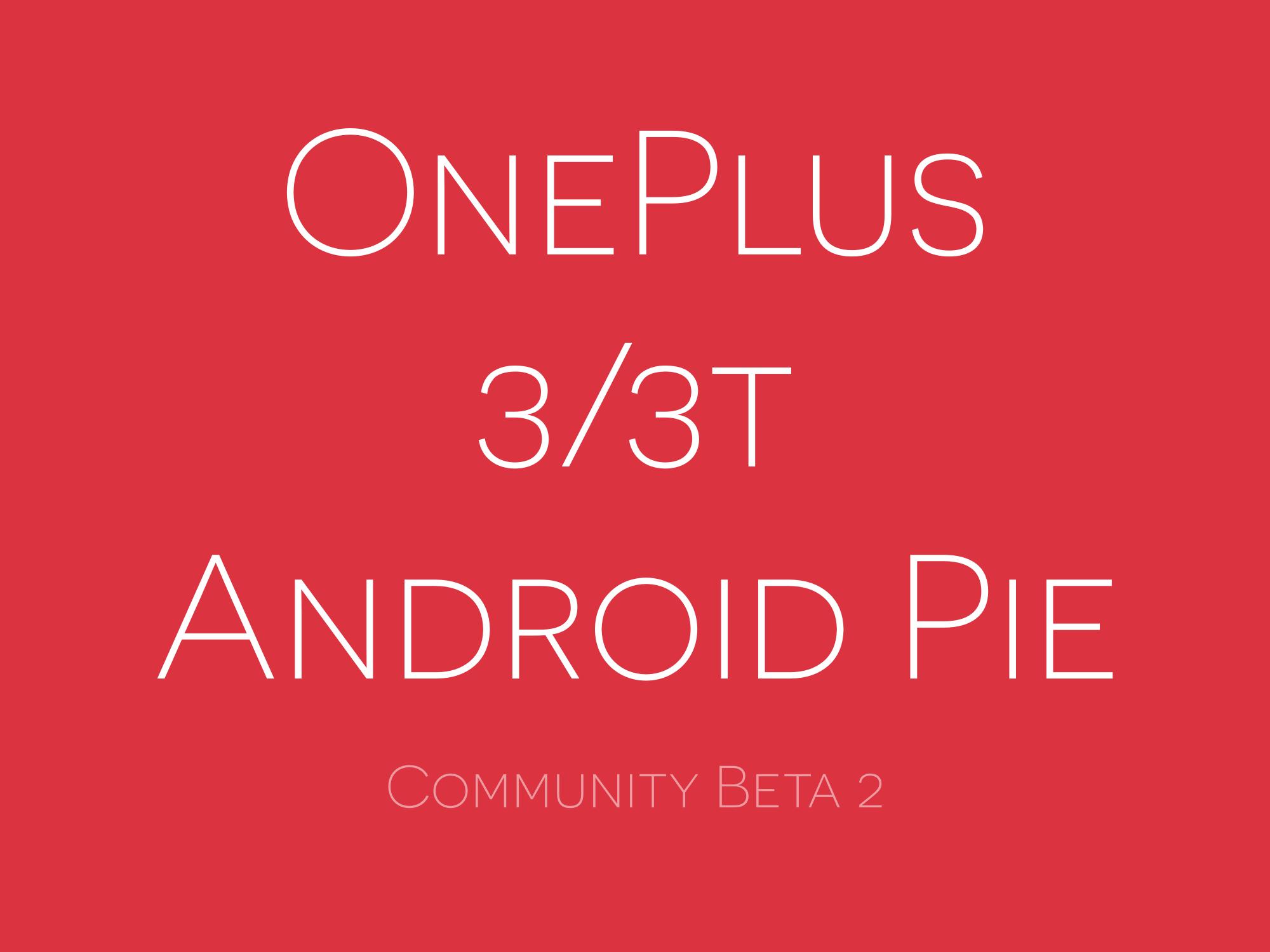 Android Pie community beta 2