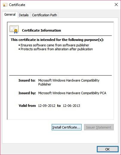 Install certifiecate