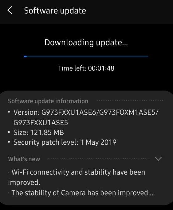 Samsung Galaxy S10 May bug fixer