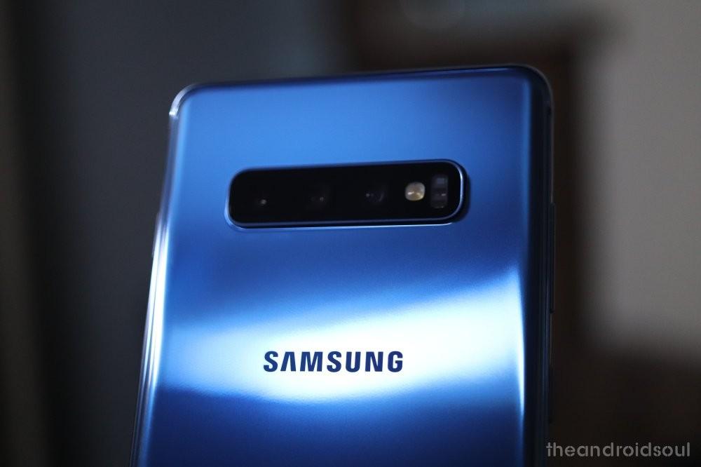 Samsung Galaxy camera layout