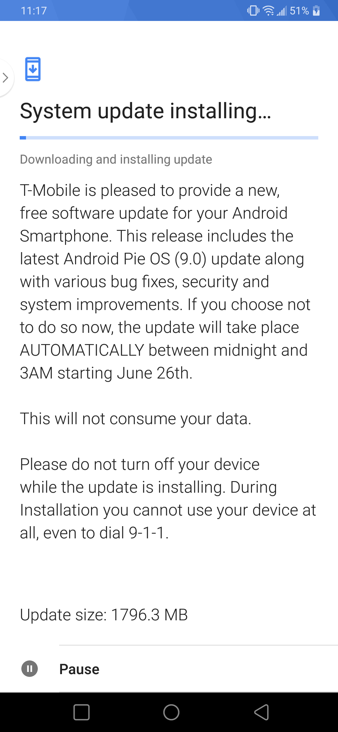 Android Pie T-Mobile V40