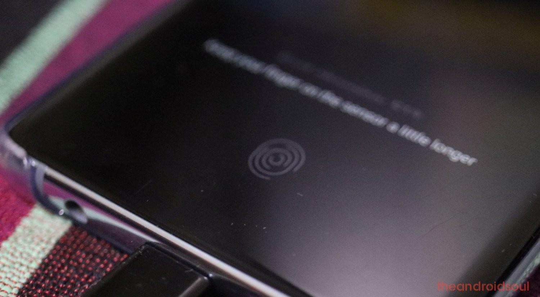 in-display fingerprint sensor tech