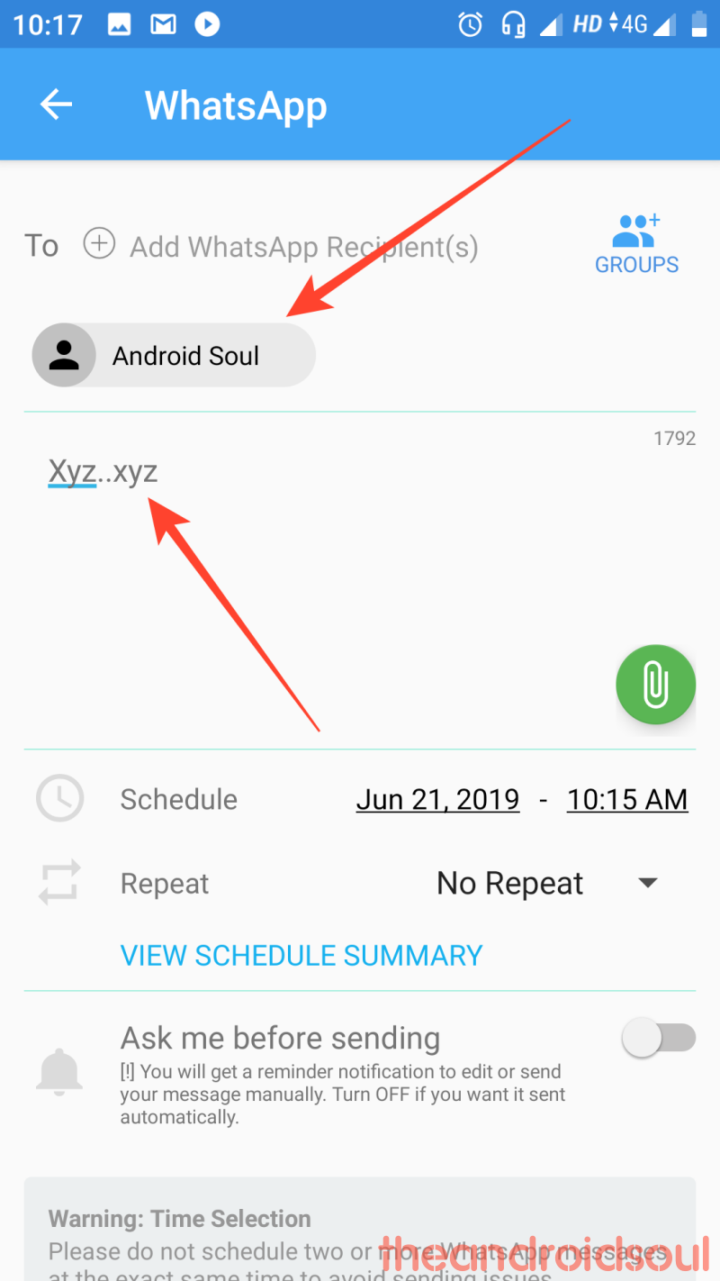 whats app message scheduling step (3)