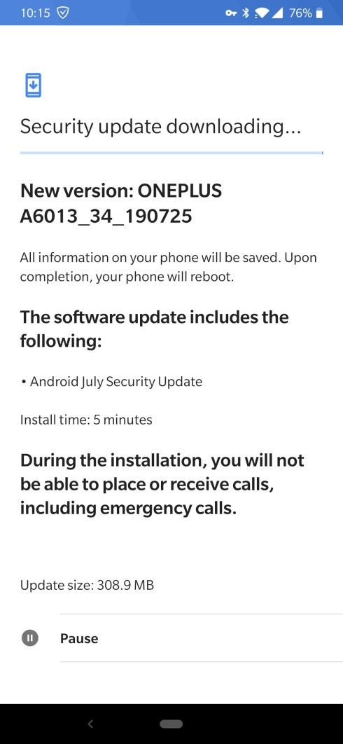 T-Mobile 6T July update