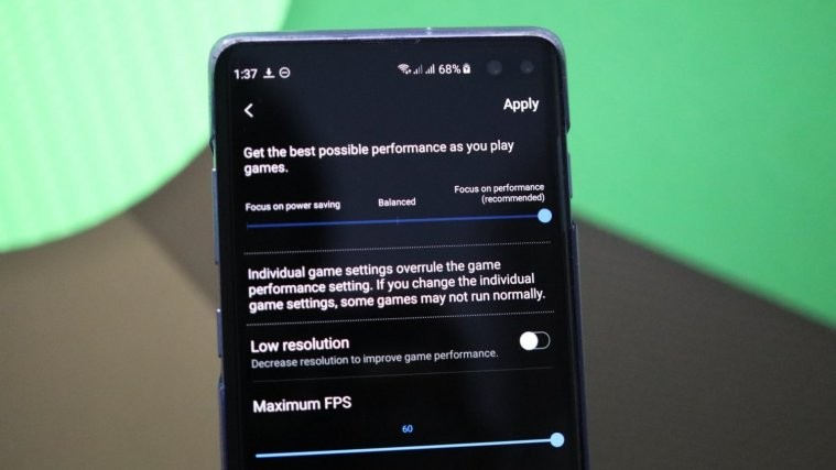 Game Launcher performance settings