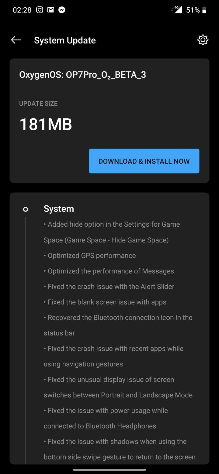 OnePlus 7 Open Beta 3 update