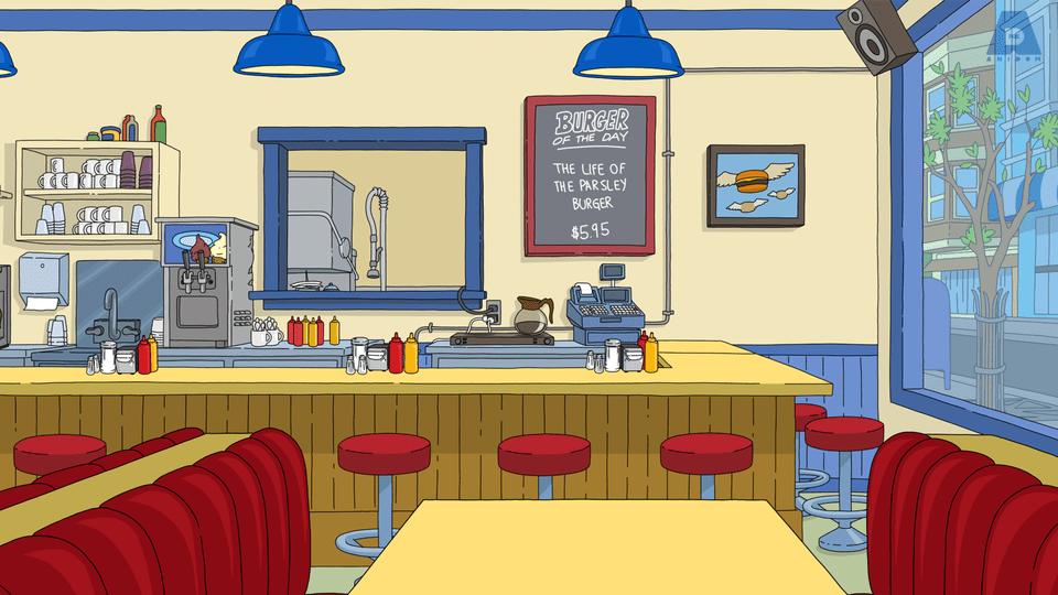 Bob's burgers Zoom background