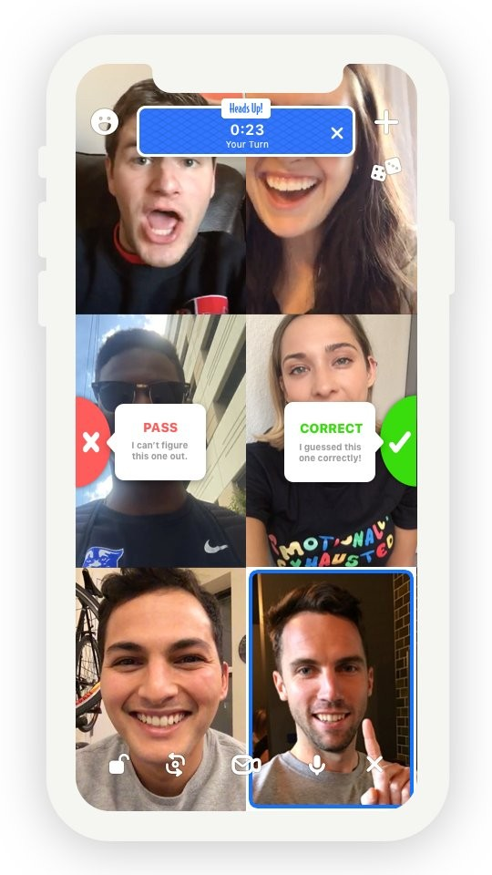 houseparty game heads up