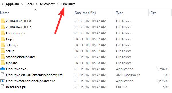 delete everything in onedrive folder