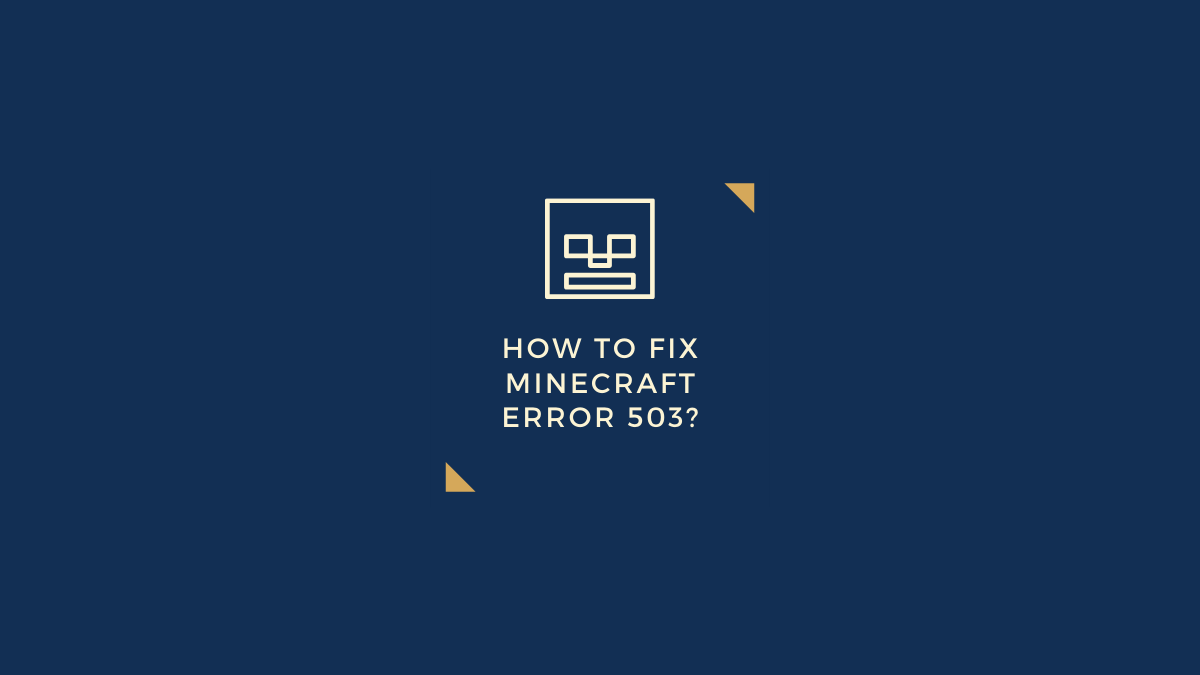 fix Minecraft error 503