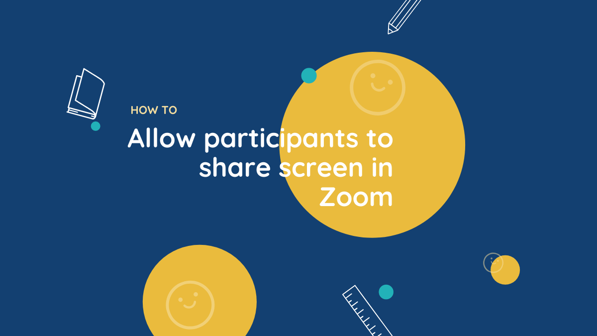 Allow participants to share screen in Zoom