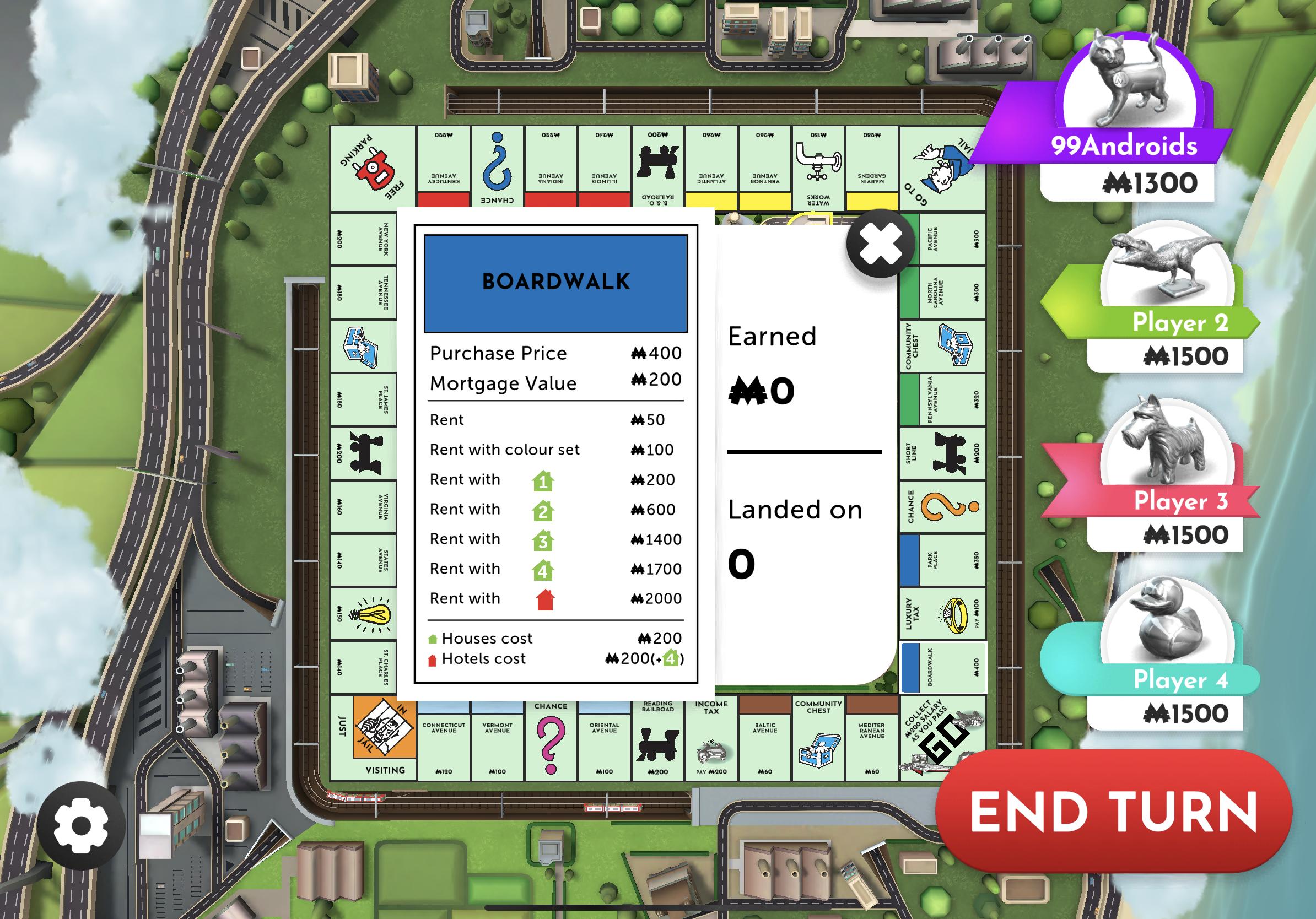 Monopoly Boardwalk Title Deed