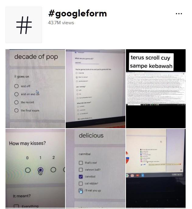 TikTok google forms
