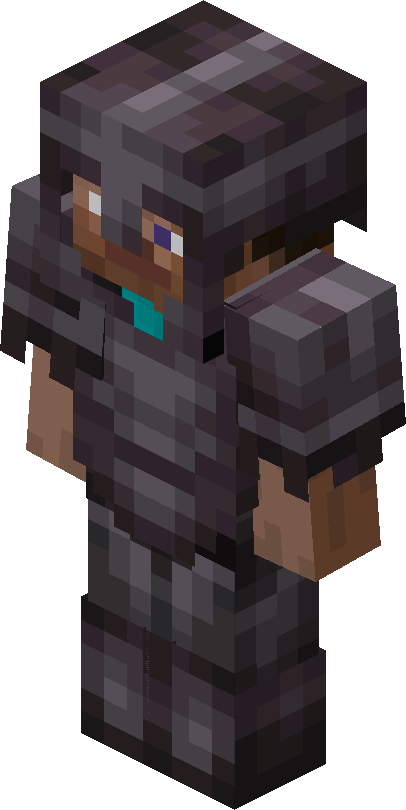Minecraft Steve in Netherite Armor