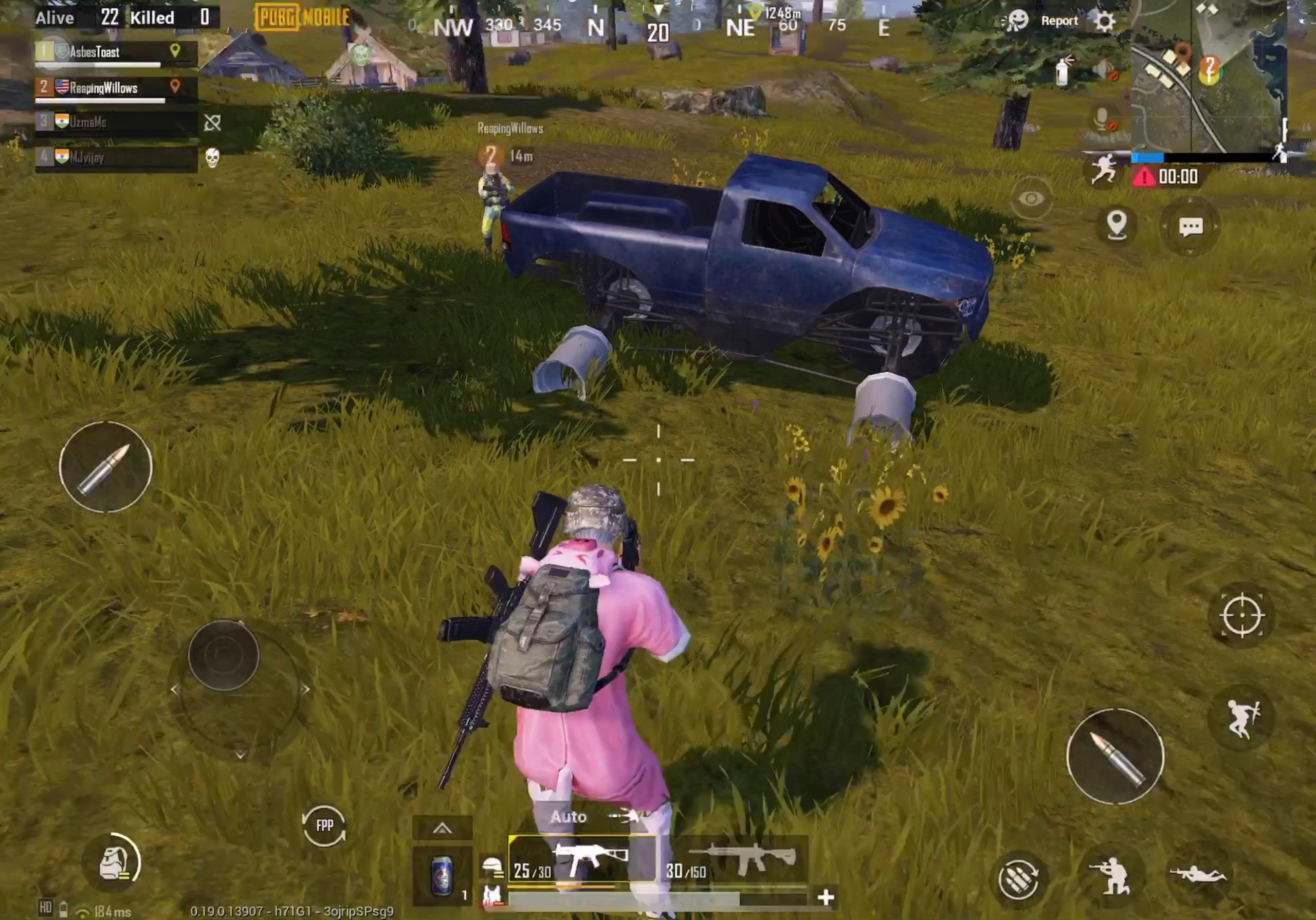 PUBG Mobile Monster Truck with tires popped