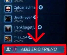 Rocket League Add Epic Friend PS4