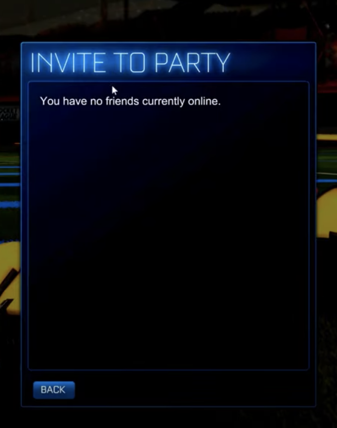 Rocket League Invite to Party PC