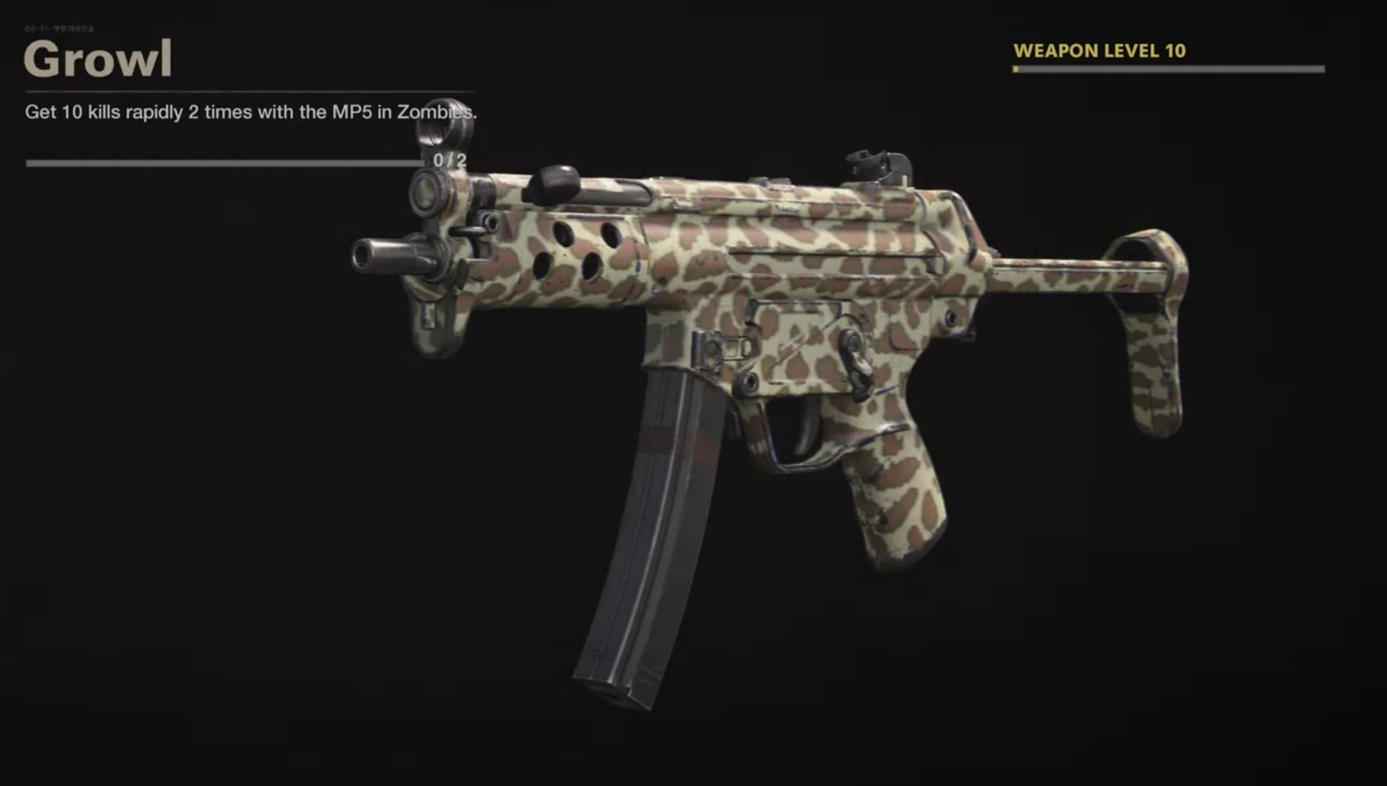 Black Ops Cold War Zombies Camo Challenges - Growl