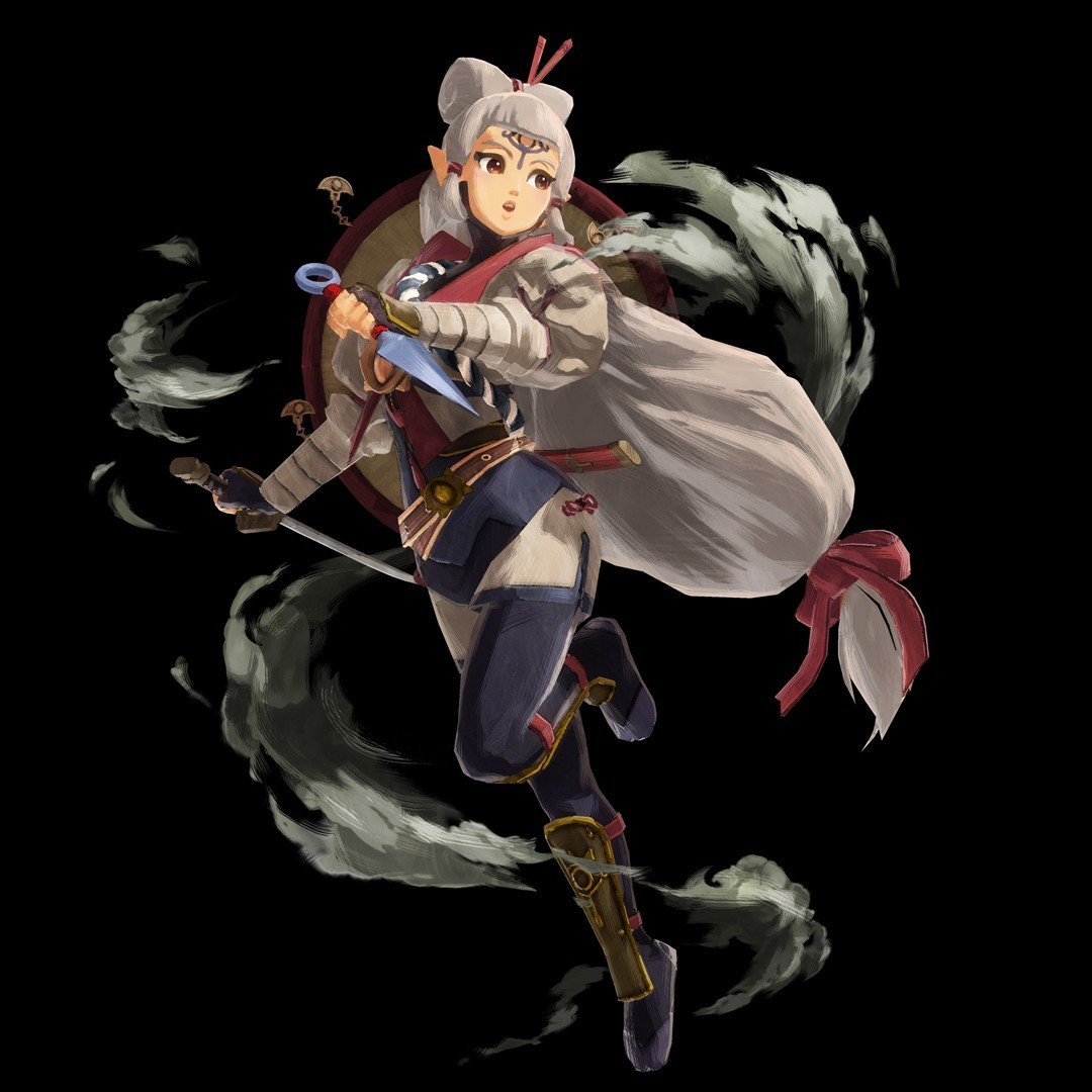 Impa Hyrule Warriors Age of Calamity - Character Design by Nintendo with Impa posing