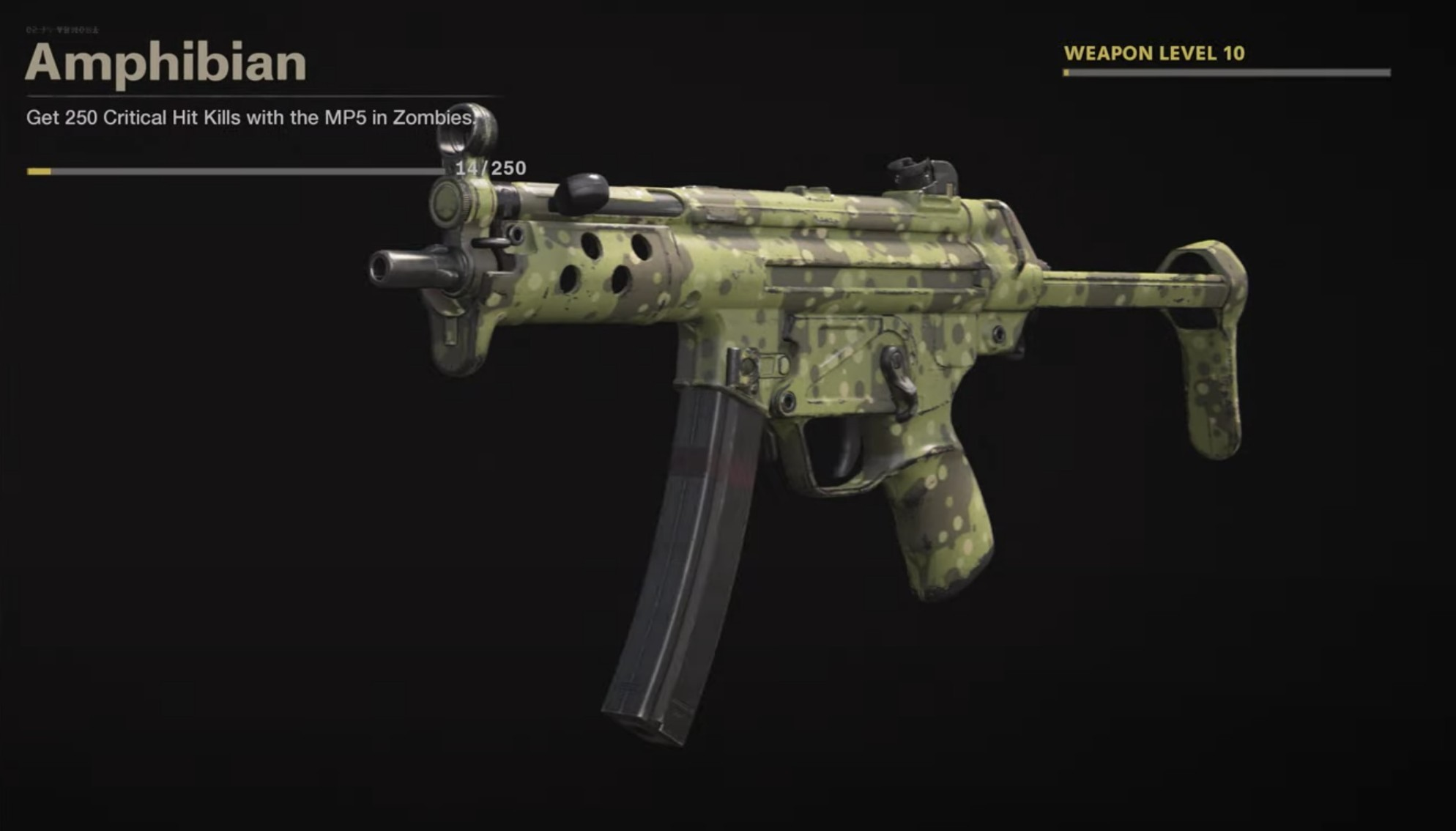 Black Ops Cold War Zombies Camo Challenges - Amphibian
