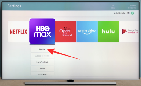 update hbo max app on samsung tv 10 a