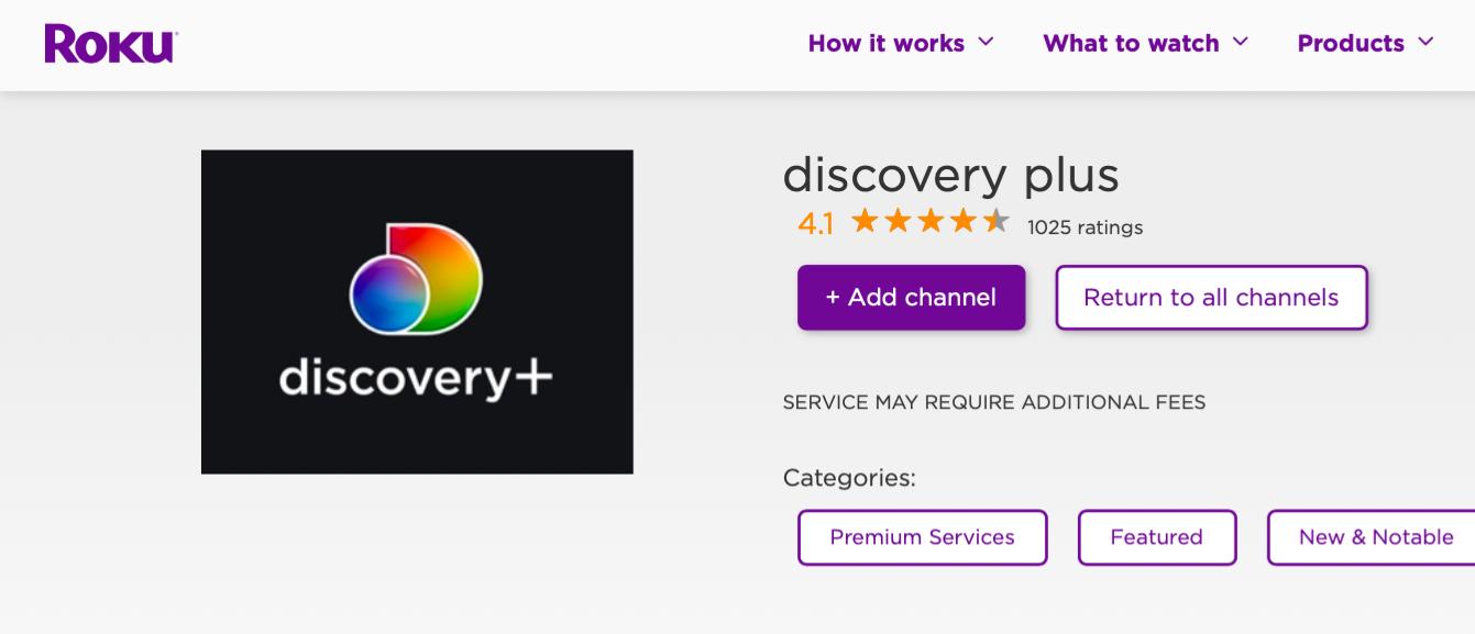 Cómo conseguir Discovery Plus en Roku