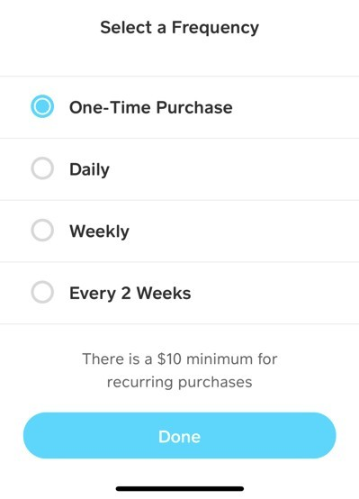 How to buy bitcoin on Cash App - Recurring purchases