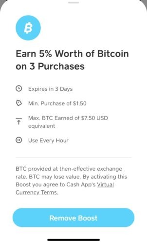 What are Cash App Boosts - Bitcoin Boost info