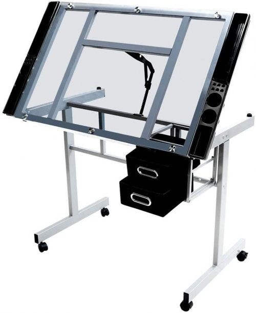 Best Drafting Table Under 100 Topeakmart Glass