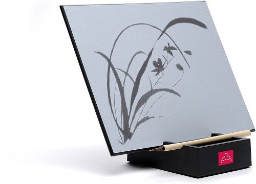 Buddha Board with floral painting