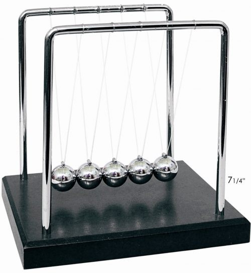 Newton's Cradle at rest with black base