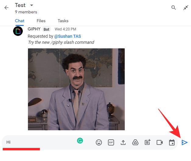 استخدام Google Chat